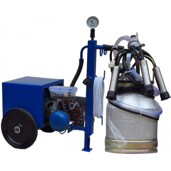 Доїльний апарат масляного типу АЇД-1Р з нержавіючими склянками new