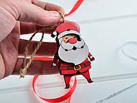 Новорічні іграшки 3D з дерева Дід Мороз