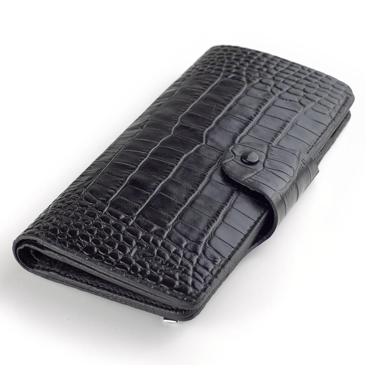 Мужское портмоне купюрник Karya 1122-53 кожаное черное