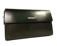 Клатч мужской кожаный большой Armani  3511-3 черный, 24*16 см, фото 1