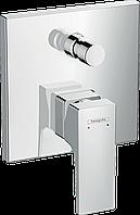 Верхня частина змішувача для ванни/душу прихованого монтажу Hansgrohe Metris Classic Matt White
