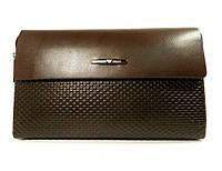 Клатч мужской кожаный средний Armani  3511-2 коричневый, 22*14 см, фото 1