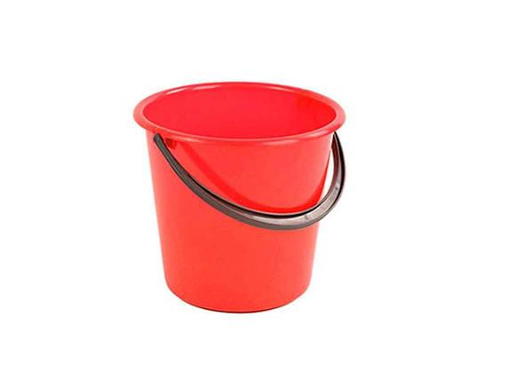 Відро пл. 7л харч. червоне ТММЕД, фото 2