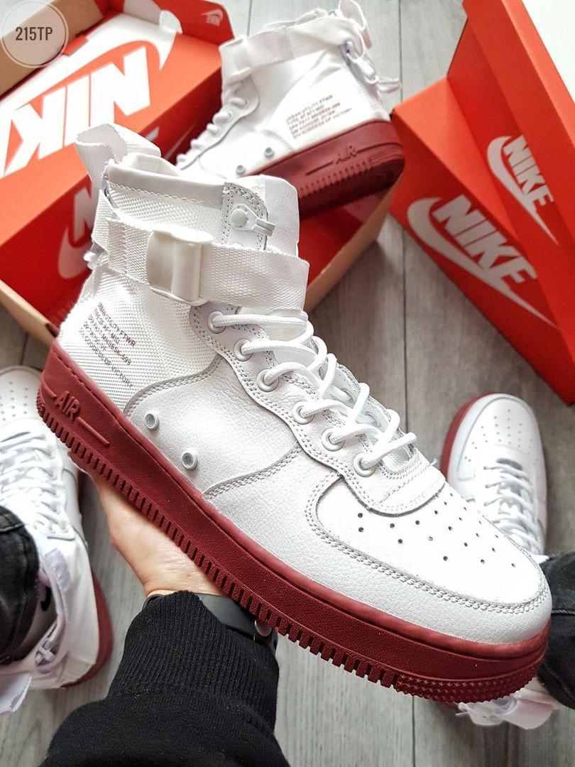 Чоловічі демісезонні кросівки Nike Air Force Hight Urban Utility FTWR (білі)