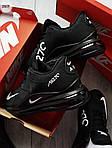 Чоловічі кросівки Nike Air 270 Kauchuk Black/White, фото 4