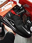 Чоловічі кросівки Nike Air 270 Kauchuk Black/White, фото 5