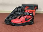 Мужские зимние кроссовки Nike Air Force (черно-красные), фото 3