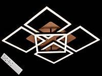 Светодиодная люстра с пультом-диммером коричневая 11009-4+1, фото 1