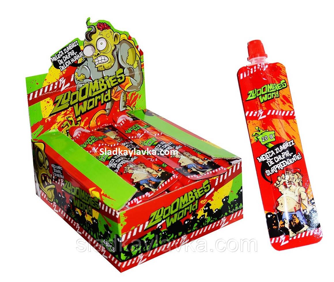 Желейная конфета Пудинг Zombies World 48 шт