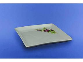 "Блюдо для суши 19 см Белое с рисунком ""Авангард"""