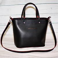 Женская сумкаMісhаеl Коrs (в стиле Майкл Корс), черная с красным