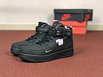 Жіночі зимові кросівки Nike Air Force (чорні), фото 2