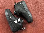 Жіночі зимові кросівки Nike Air Force (чорні), фото 4