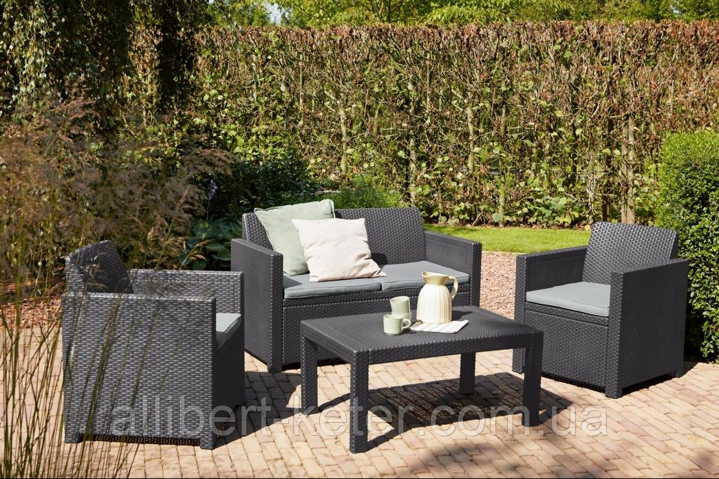 Набор садовой мебели Merano Lounge Set из искусственного ротанга ( Allibert by Keter )