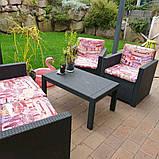 Набор садовой мебели Merano Lounge Set из искусственного ротанга ( Allibert by Keter ), фото 3