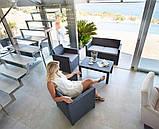 Набор садовой мебели Merano Lounge Set из искусственного ротанга ( Allibert by Keter ), фото 7