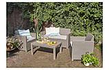 Набор садовой мебели Merano Lounge Set из искусственного ротанга ( Allibert by Keter ), фото 8