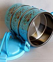 Термо ланч-бокс. Контейнер для хранения продуктов три секции для еды с крышками., фото 2