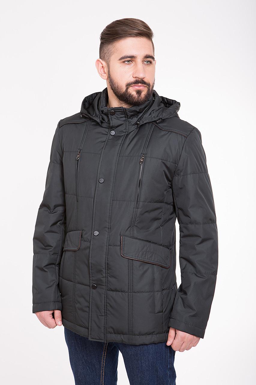 Демисезонная (весна / осень) куртка с капюшоном CW14MC89 #401_хаки