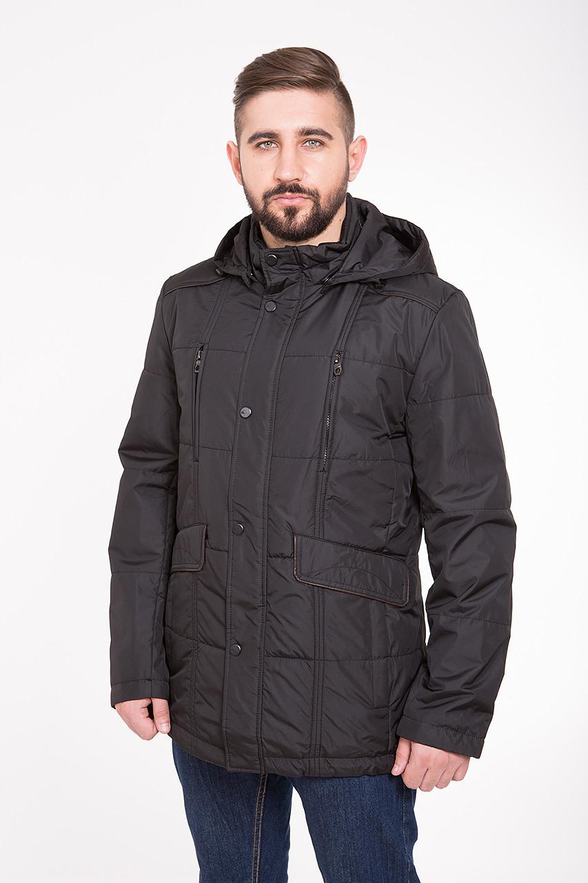 Демисезонная (весна / осень) куртка с капюшоном CW14MC89 #701_черный