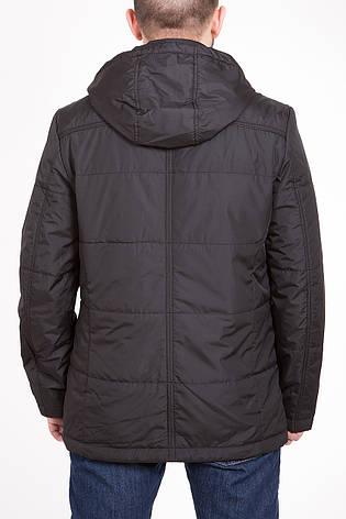 Демисезонная (весна / осень) куртка с капюшоном CW14MC89 #701_черный, фото 2