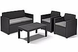 Набор садовой мебели Merano Lounge Set Graphite ( графит ) из искусственного ротанга, фото 5