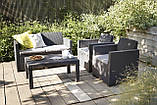 Набор садовой мебели Merano Lounge Set Graphite ( графит ) из искусственного ротанга, фото 2