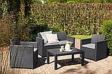 Набор садовой мебели Merano Lounge Set Graphite ( графит ) из искусственного ротанга, фото 7