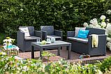 Набор садовой мебели Merano Lounge Set Graphite ( графит ) из искусственного ротанга, фото 4