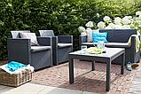Набор садовой мебели Merano Lounge Set Graphite ( графит ) из искусственного ротанга, фото 8