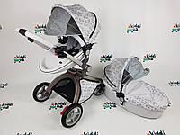 Универсальная коляска 2 в 1 Hot Mom Новая расцветка Leaves