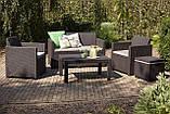 Набор садовой мебели Merano Lounge Set Brown ( коричневый ) из искусственного ротанга ( Allibert by Keter ), фото 4