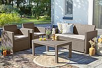 Набор садовой мебели Merano Lounge Set Cappuccino ( капучино ) из искусственного ротанга, фото 1