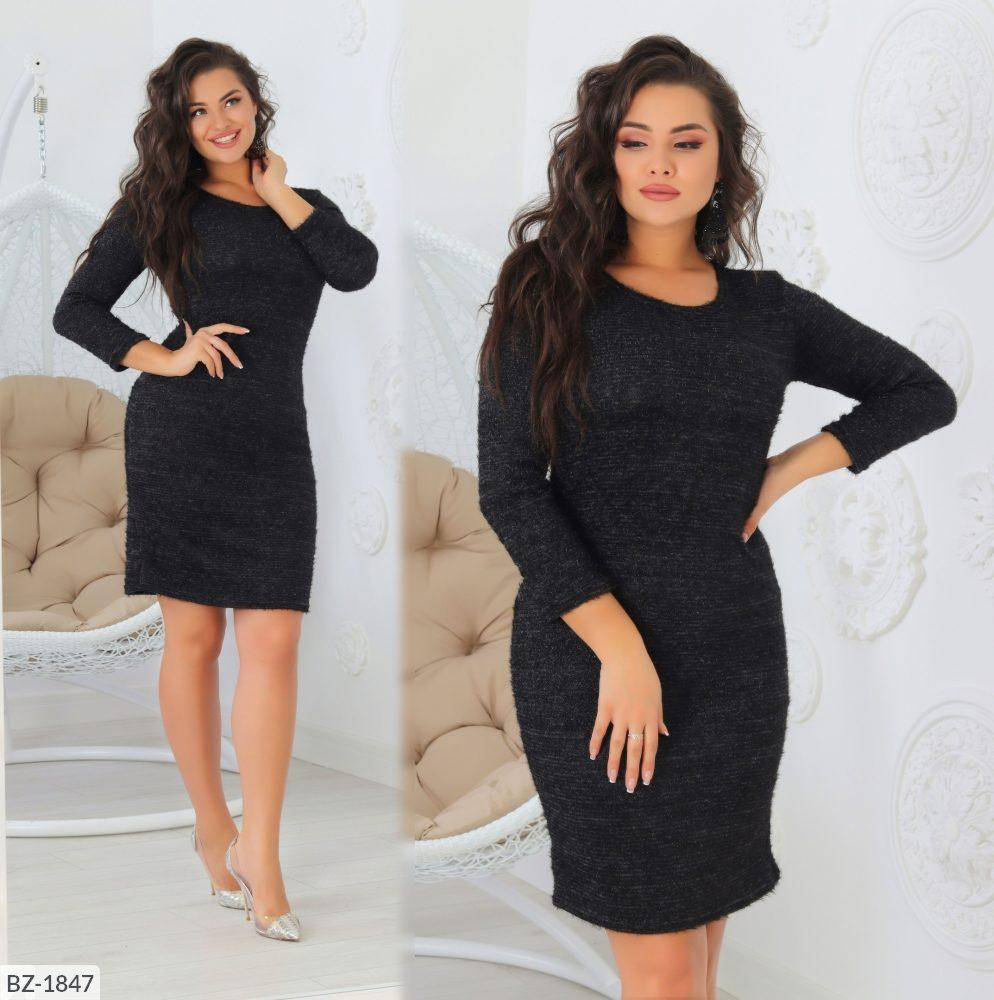 Стильное платье   (размеры 50-56) 0214-07
