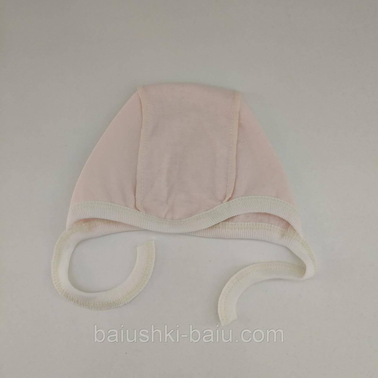Чепчик в роддом для новорожденного (футер), р. 0-1 мес.