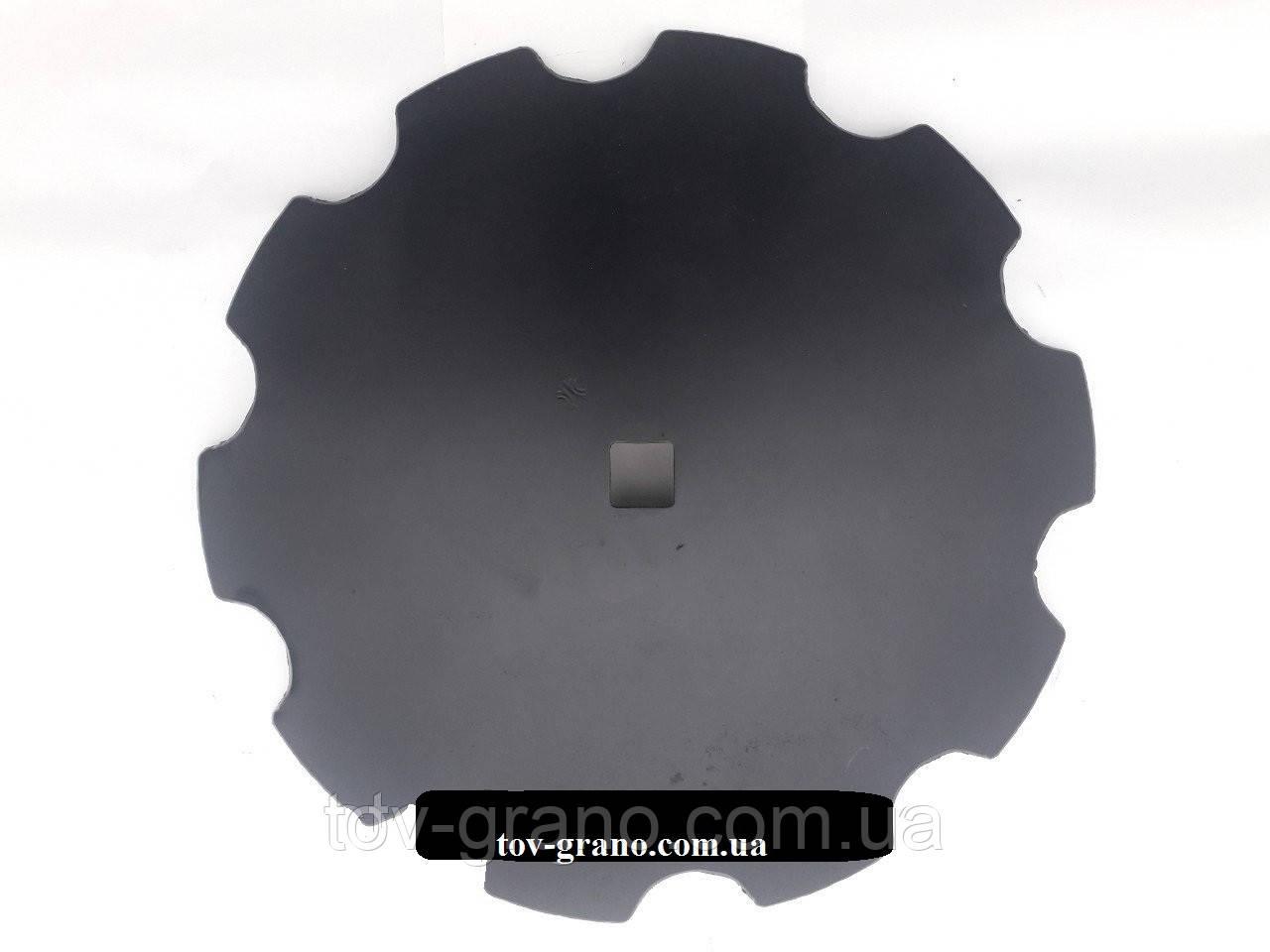 Диск бороны Kverneland 650 мм. кв.42. Z=10мм. тощина 8мм.