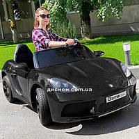 Двухместный детский электромобиль M 4055 ALS-2 Porsche, черный