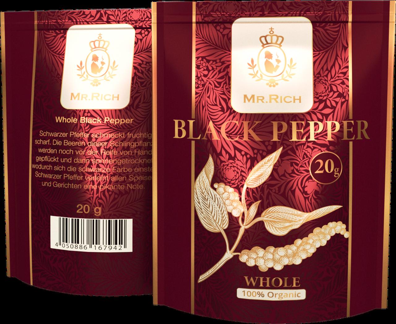 Mr.Rich Whole Black Pepper 20 г. горошком