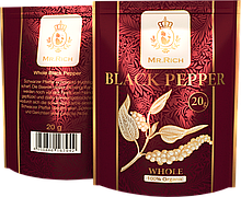 Mr.Rich Whole Black Pepper 20 р. горошком