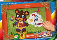 Раскраска глиттером по номерам в коробке: Мишка БМ-01-04 Danko-Toys Украина