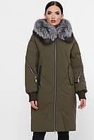 Стеганая женская куртка на зиму