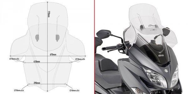 Ветровое стекло Givi AF3115 для мотоцикла Suzuki Burgman 400 (17)