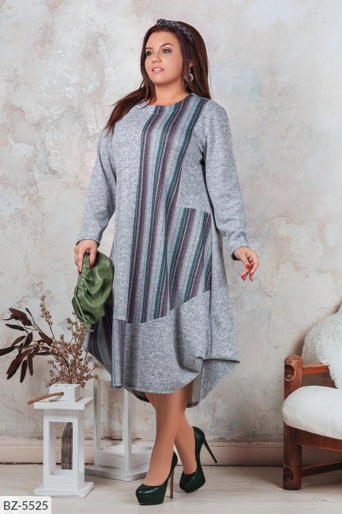 Стильное платье   (размеры 52-58) 0214-28