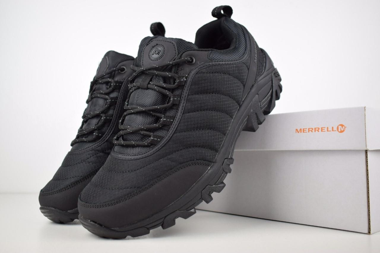 Чоловічі зимові чоботи з хутром Merrell Vibram (чорні)