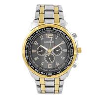 Часы наручные мужские на браслете GOLDLIS 1200G-комби-black