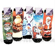 Новогодние бесшовные 3D носки тёплые 36-40