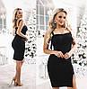 Платье женское с бахромой ТК/-3044 - Черный