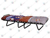 Раскладушка 4-х опорная с ватным матрасом