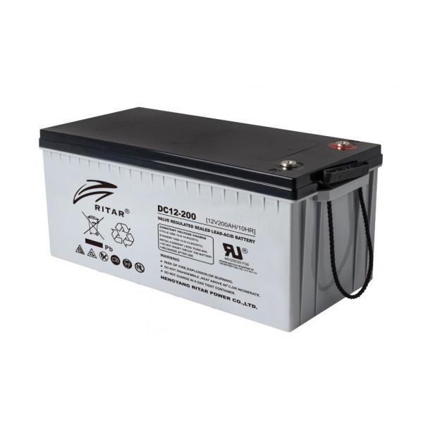 Аккумулятор свинцово-углеродный - 200 Ач 12В RITAR DC12-200С