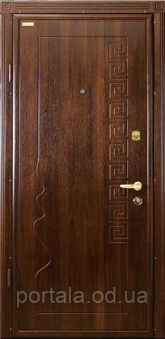 """Вхідні двері для вулиці """"Портала"""" (Комфорт Vinorit) ― модель Родос"""